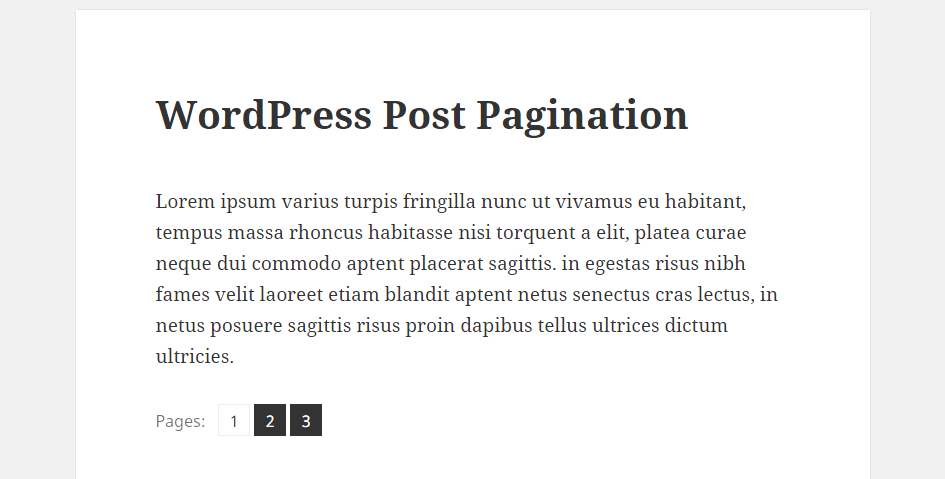 Pagination-of-posts-in-wordpress