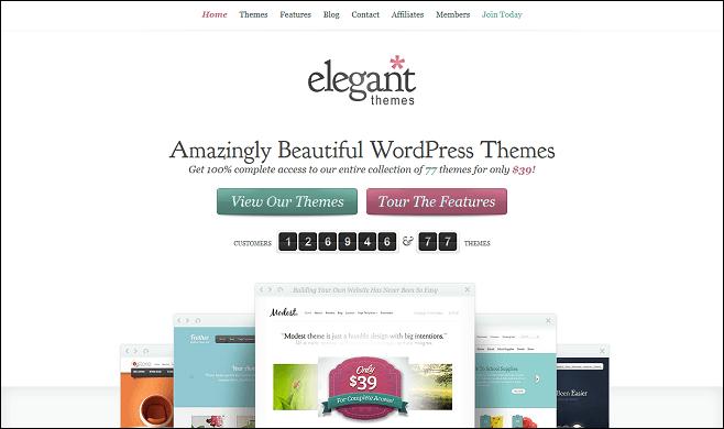 elegant-themes-homepage