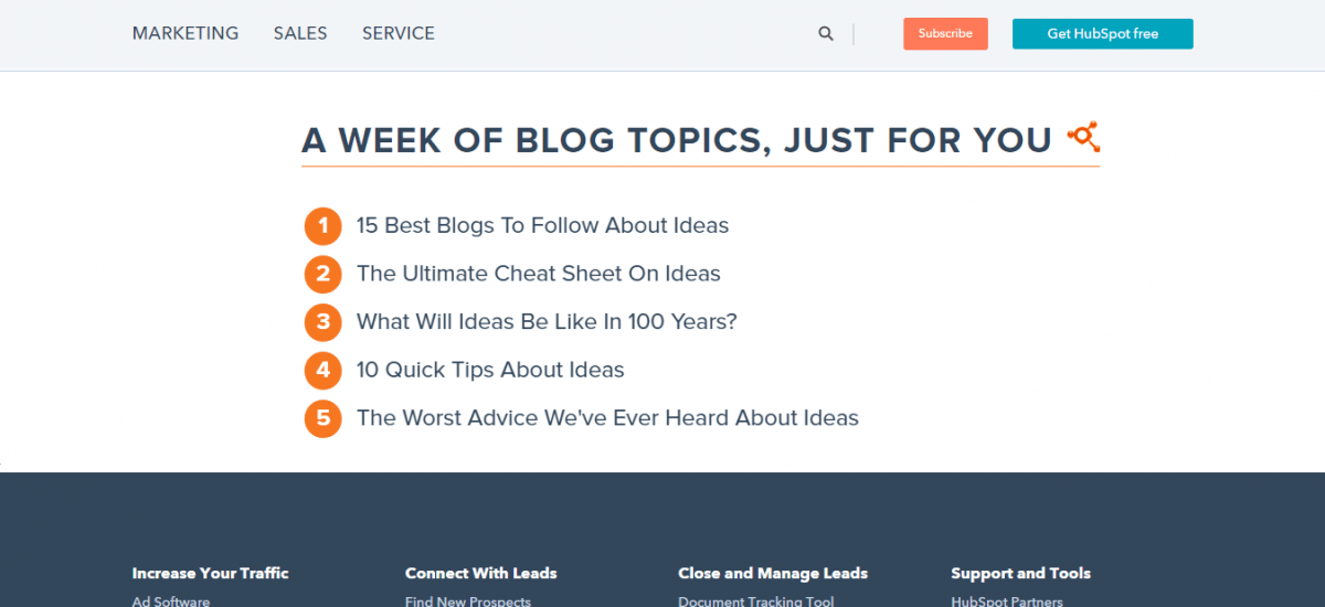 HubSpot-s-Blog-Ideas-Generator