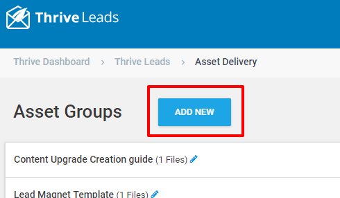 Thrive-Leads-Asset-ste-4-click-on-add-new-button