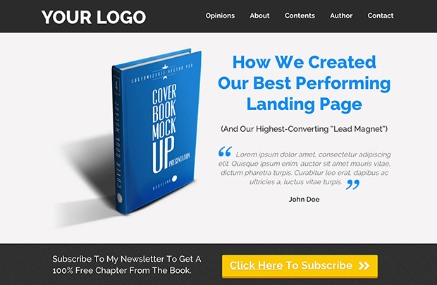blogging-landing-pages