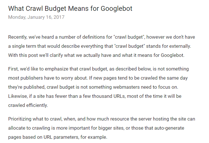 crawl-budget-for-google-bot