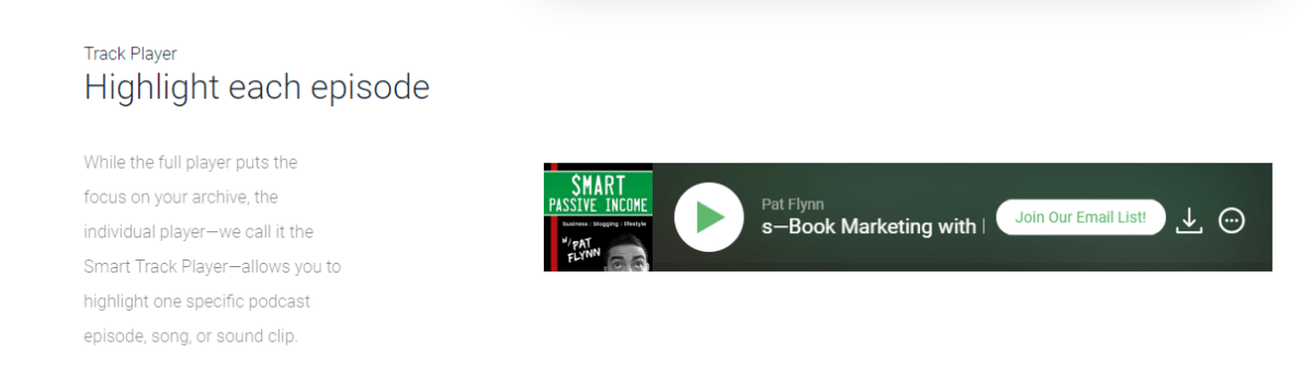 smart-track-player-highlighting-single-podcast-media