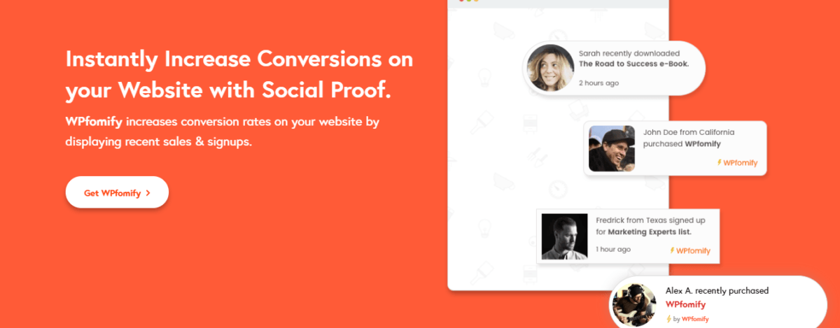 WPfomify-Social-Proof-Marketing-WordPress-plugin